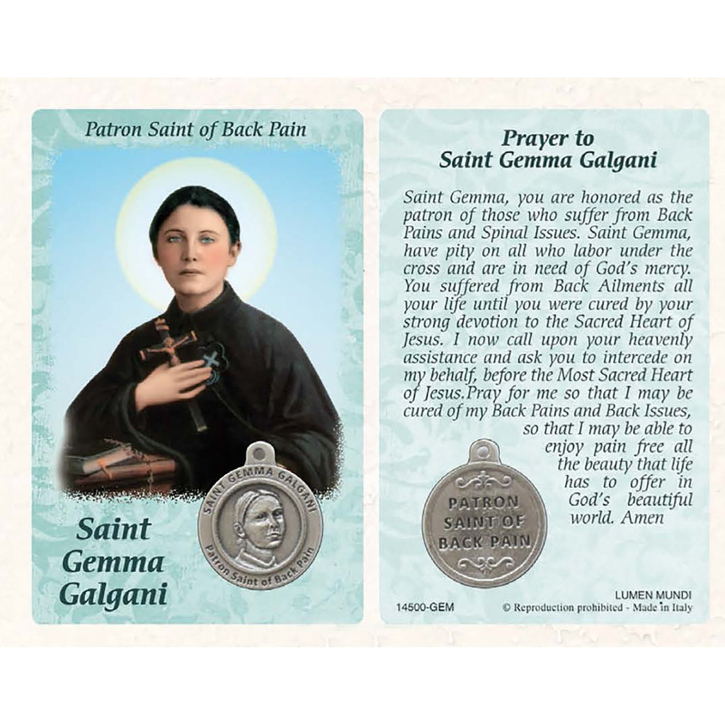 Healing Saint - St. Gemma Galgani Card with Medal - Pack of 25