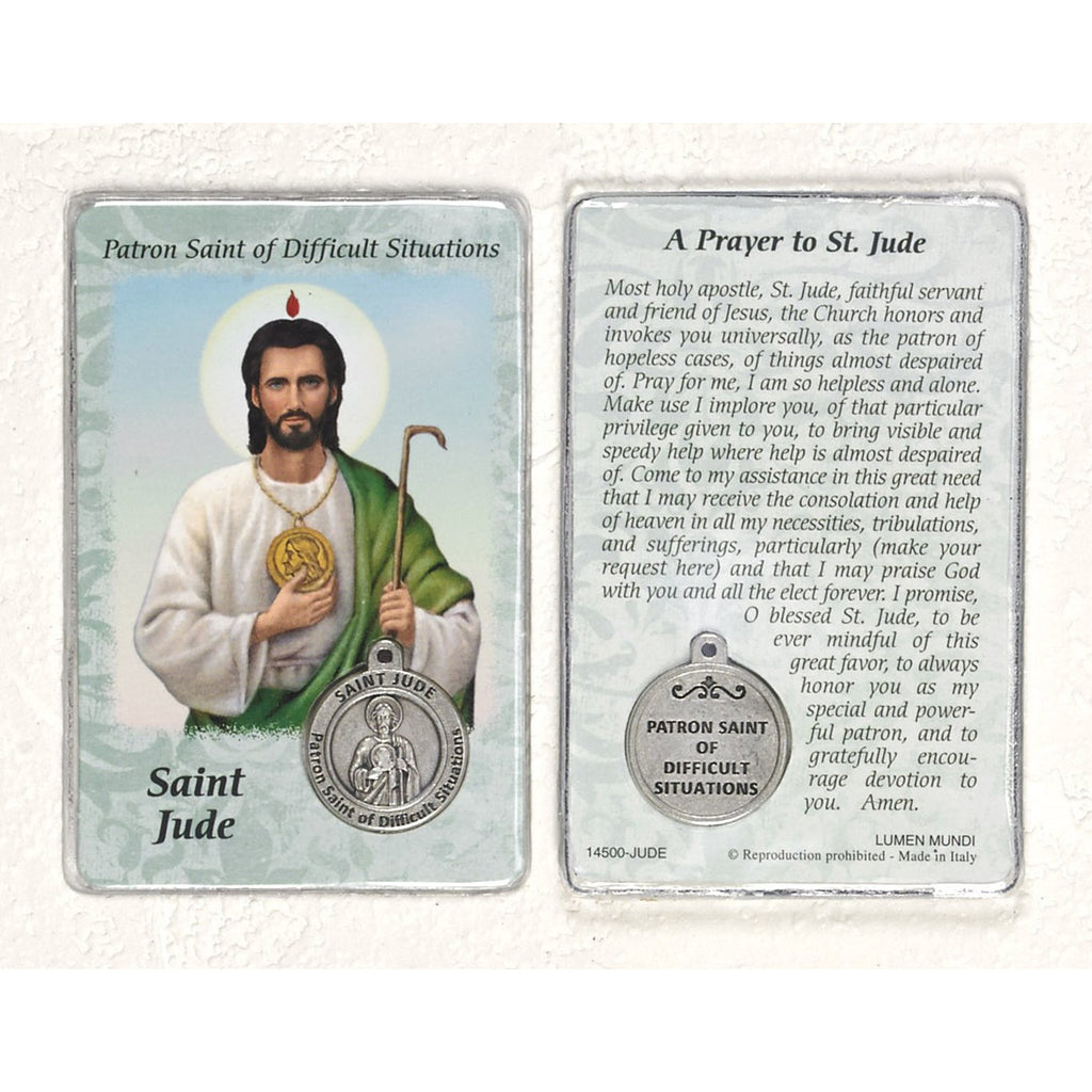 Healing Saint - St Jude Card with Medal