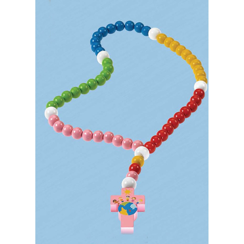 Colorful Light of the World Baby Rosary - Baptism
