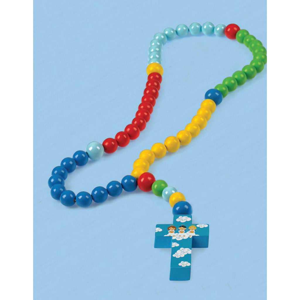 Colorful Baby Rosary - 3 Angels