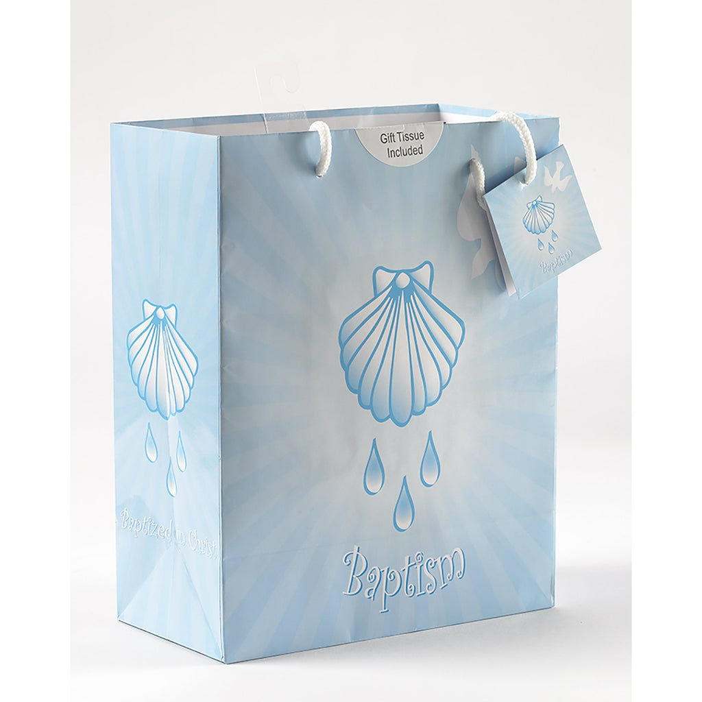 Blue Baptism Boy Gift Bag