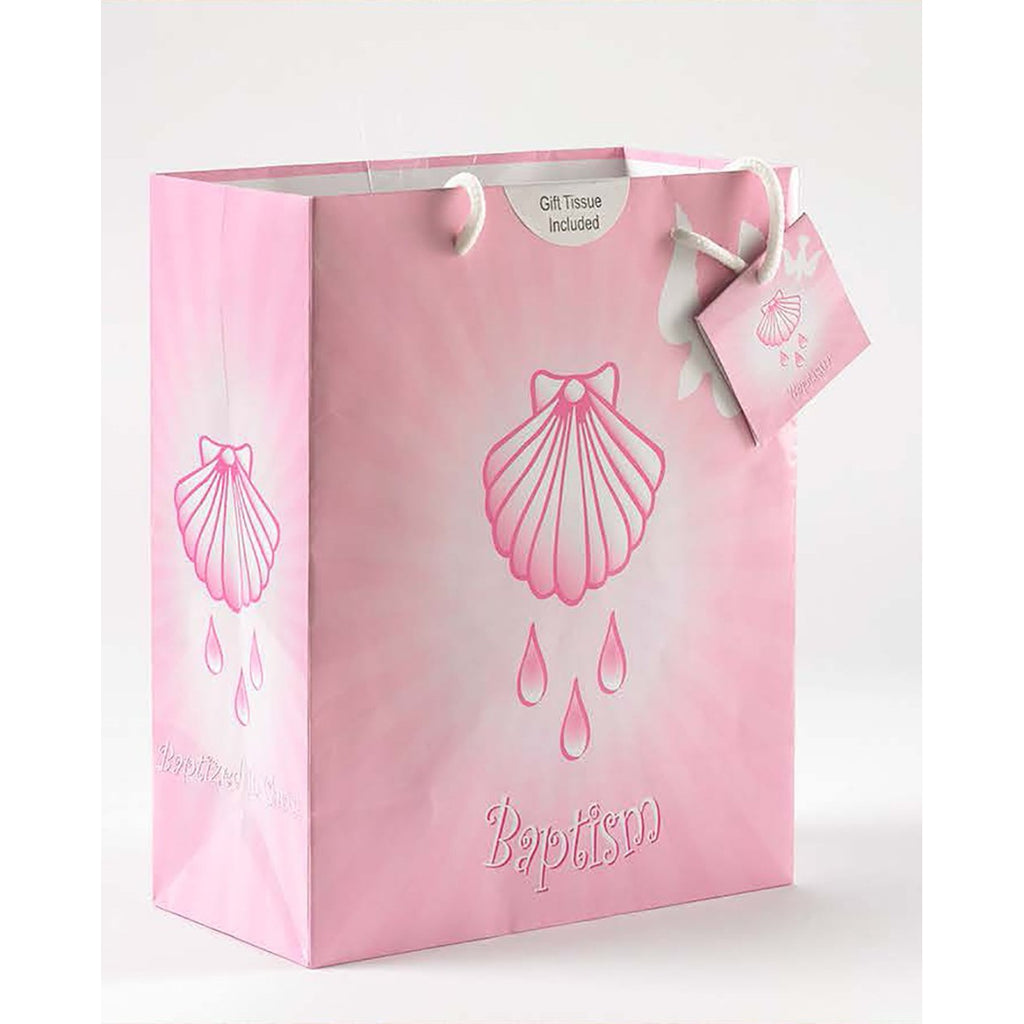 Pink Baptism Girl Gift Bag