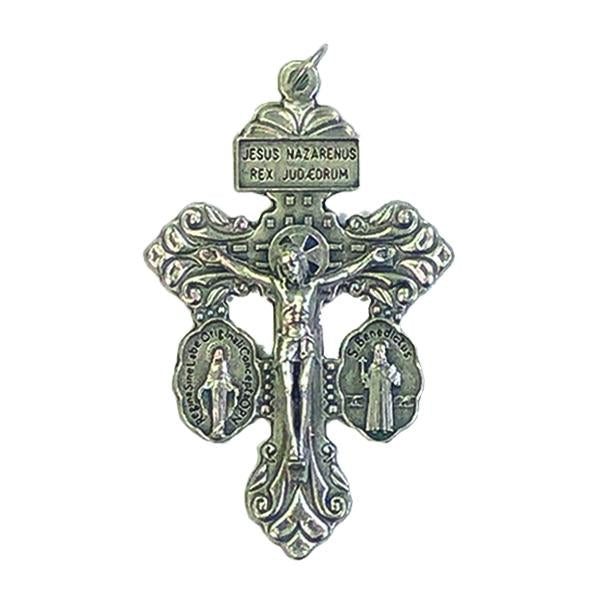 Gunmetal Colored Special Pardon Pendant/Rosary Crucifix
