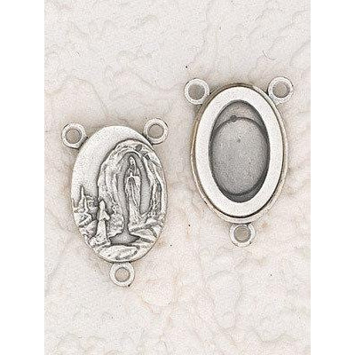 Lady of Lourdes With water from Lourdes Rosary Center - Pack of 12