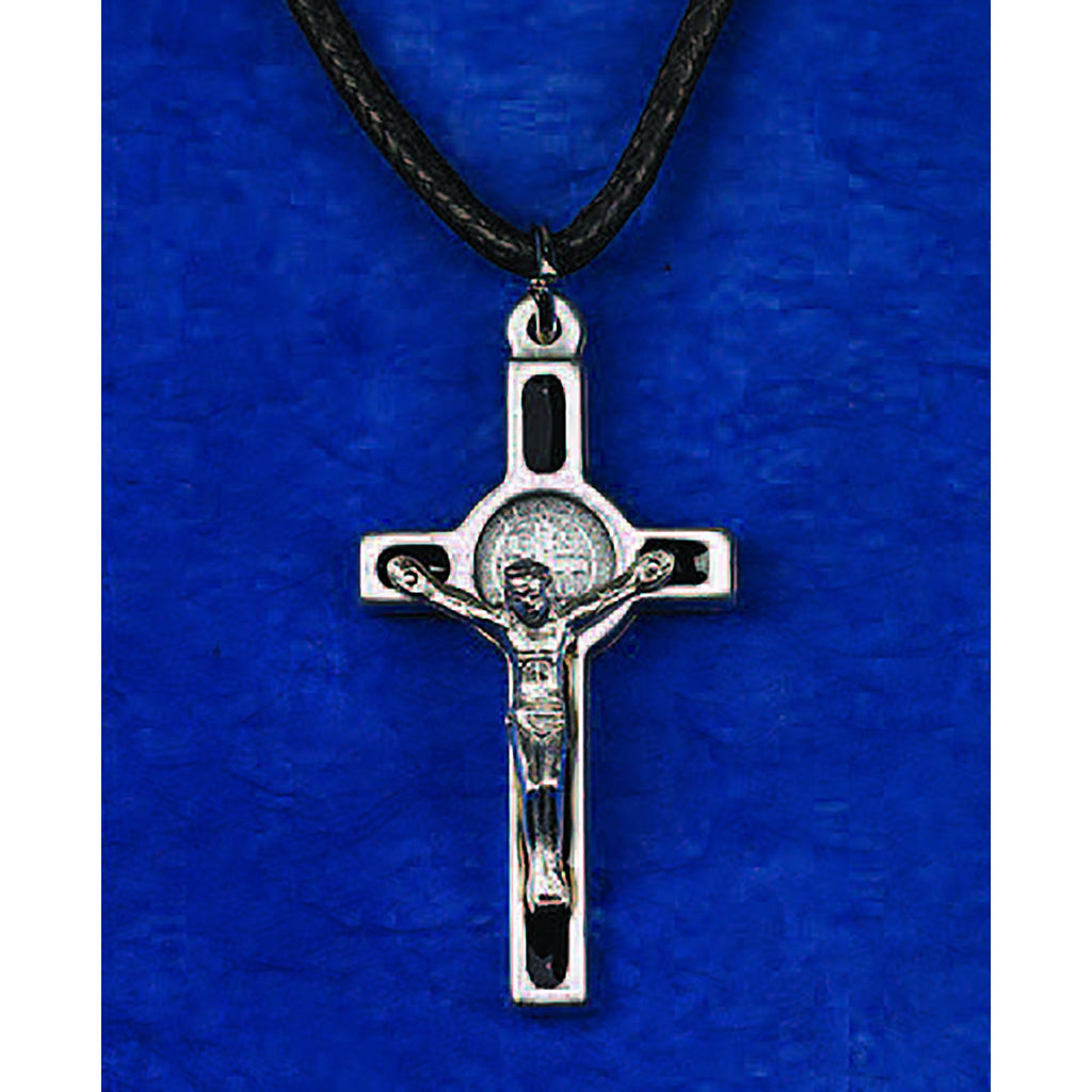 Saint Benedict Silver Tone Enameled Crosses - 10 Options