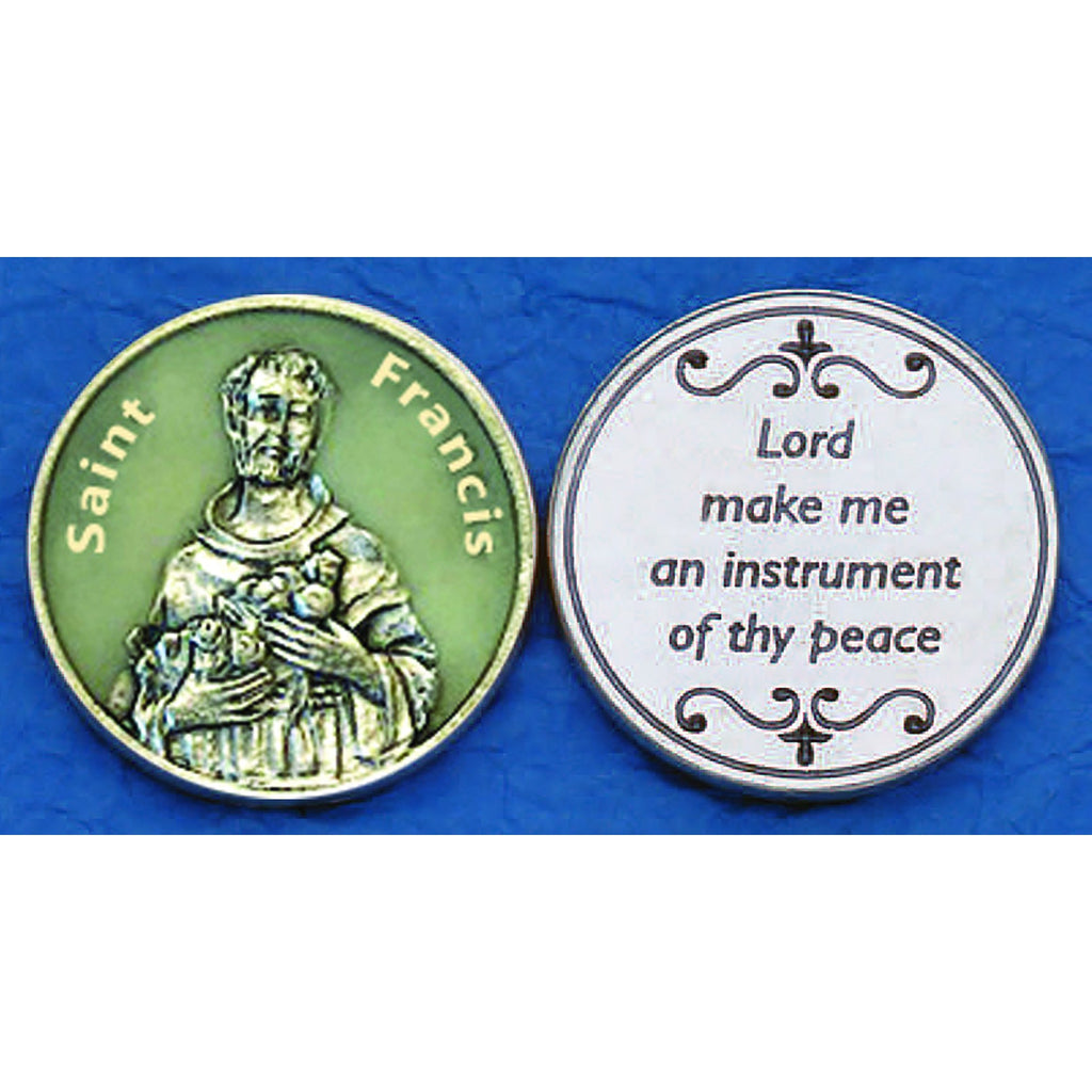 Saint Francis Glow in the Dark Tokens