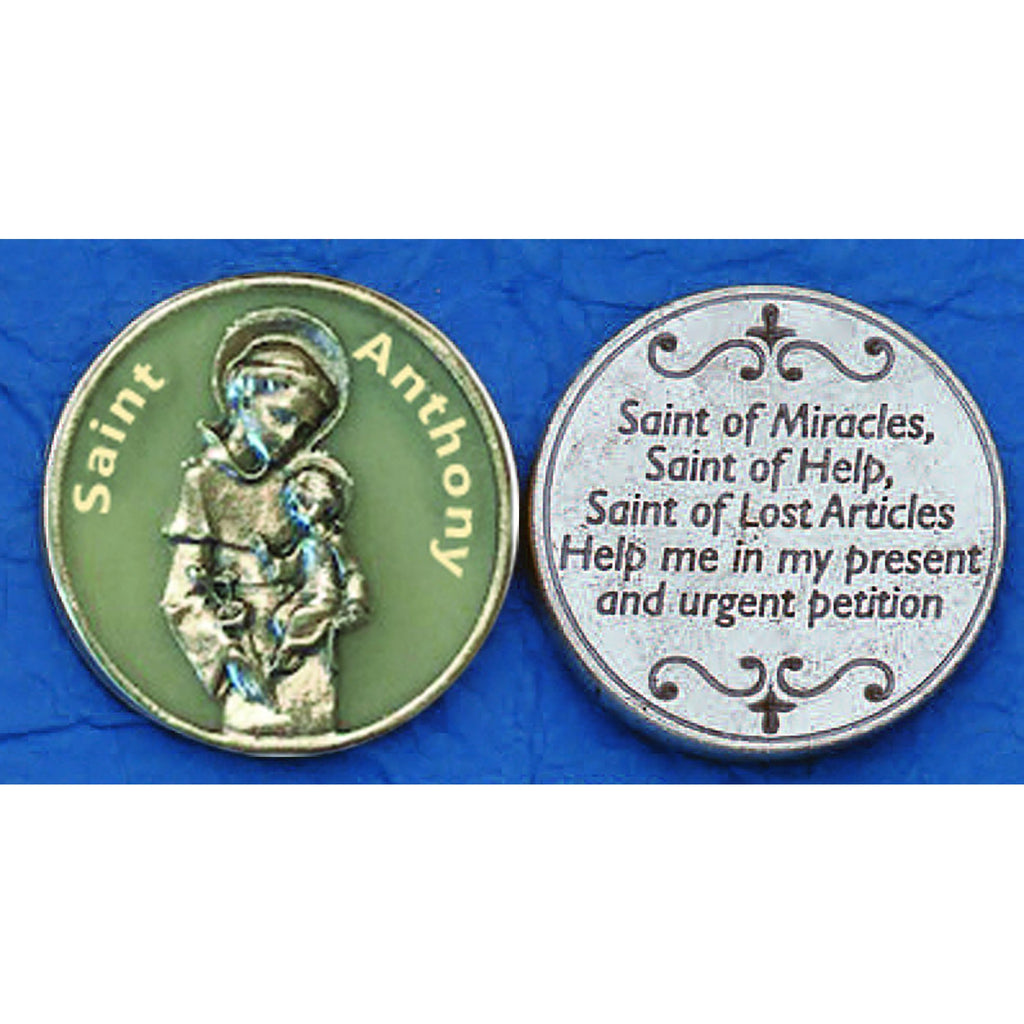 Saint Anthony Glow in the Dark Tokens