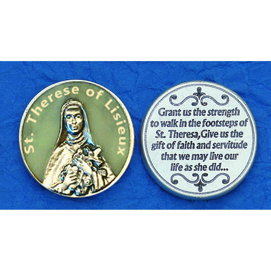 Saint Therese of Lisieux Glow in the Dark Tokens
