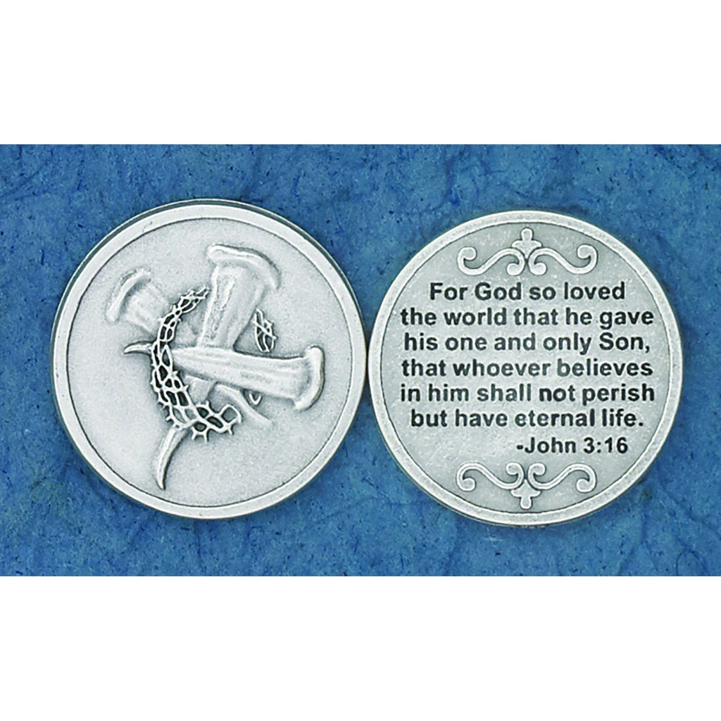 Christian Token - For God so Loved - Pack of 25