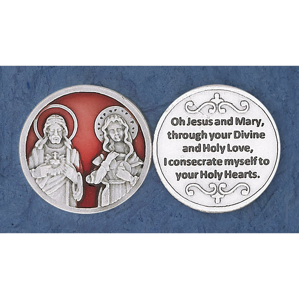 Enameled Token - Twin Hearts - Pack of 25