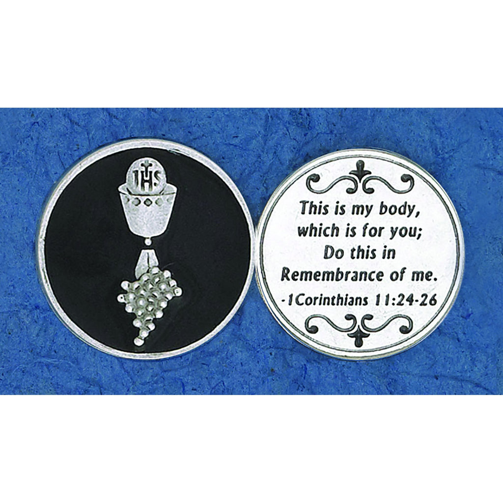 Enameled Token - Communion - Black - Pack of 25