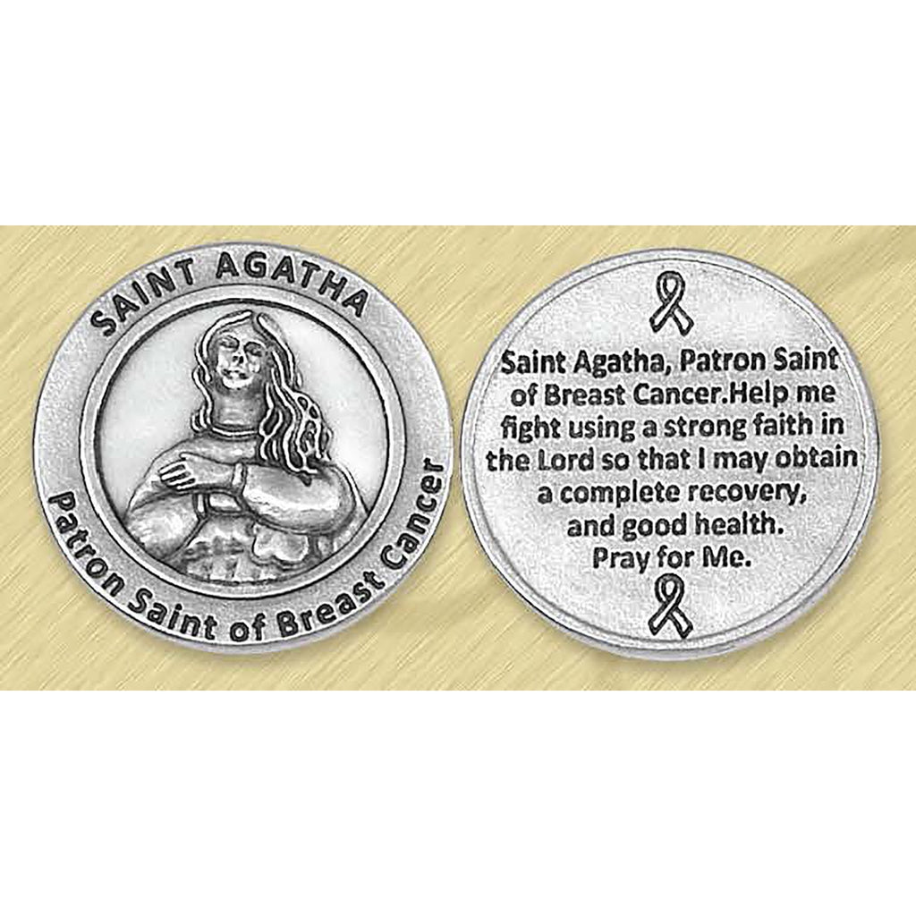 Healing Saint - St Agatha Pocket Token