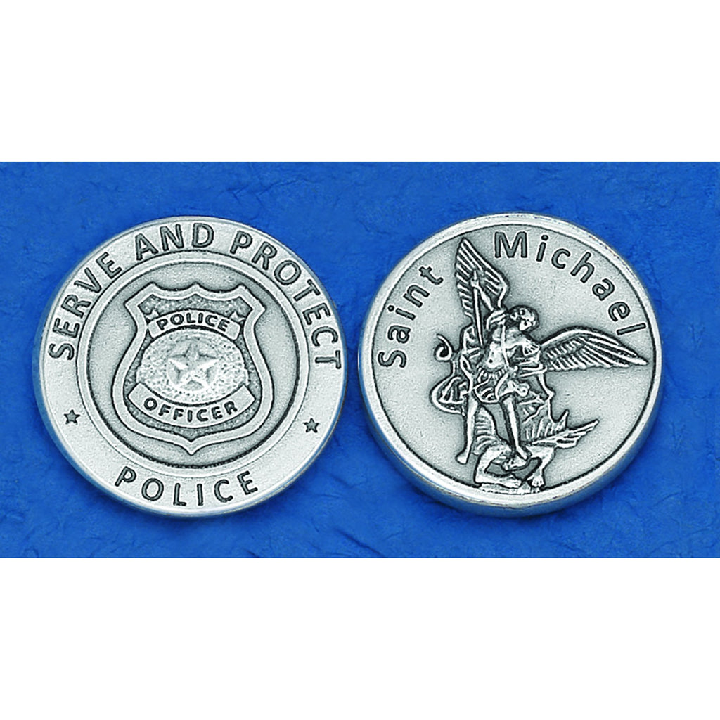 Italian Token - Saint Michael - Serve and Protect - Police - Pack of 25