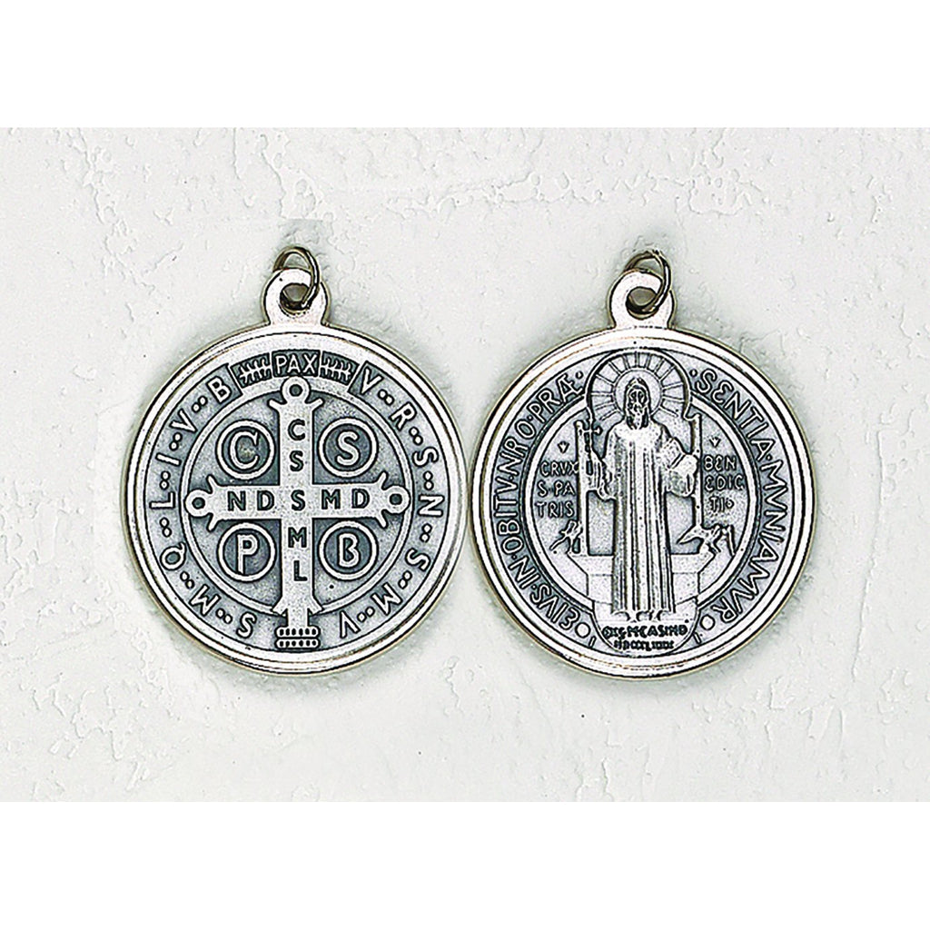 Saint Benedict Silver Tone Medal - 12 Options