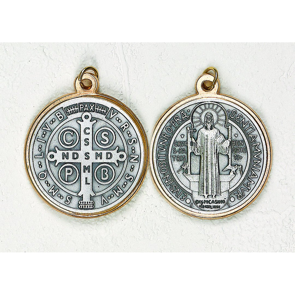 Saint Benedict Two Tone Medal - 12 Options