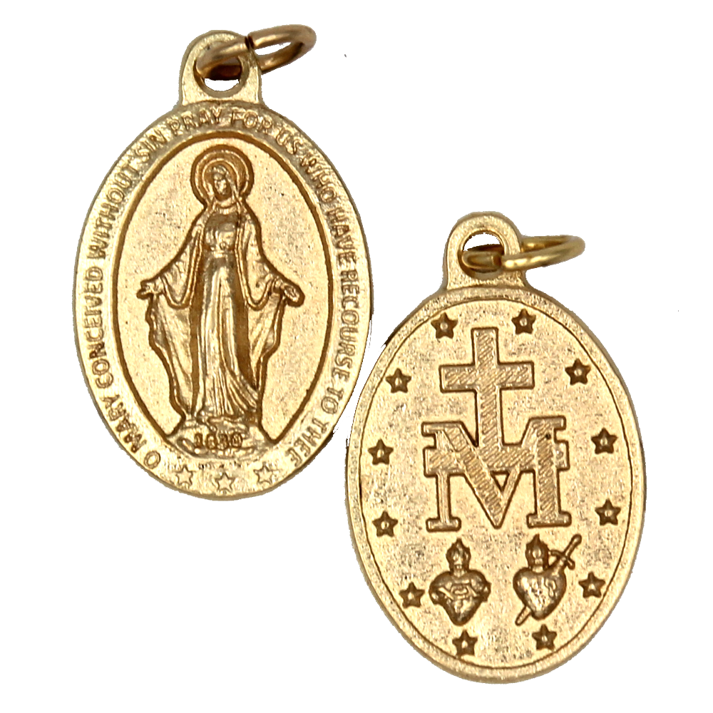 Miraculous Premium Double Sided Medal - Gold Tone