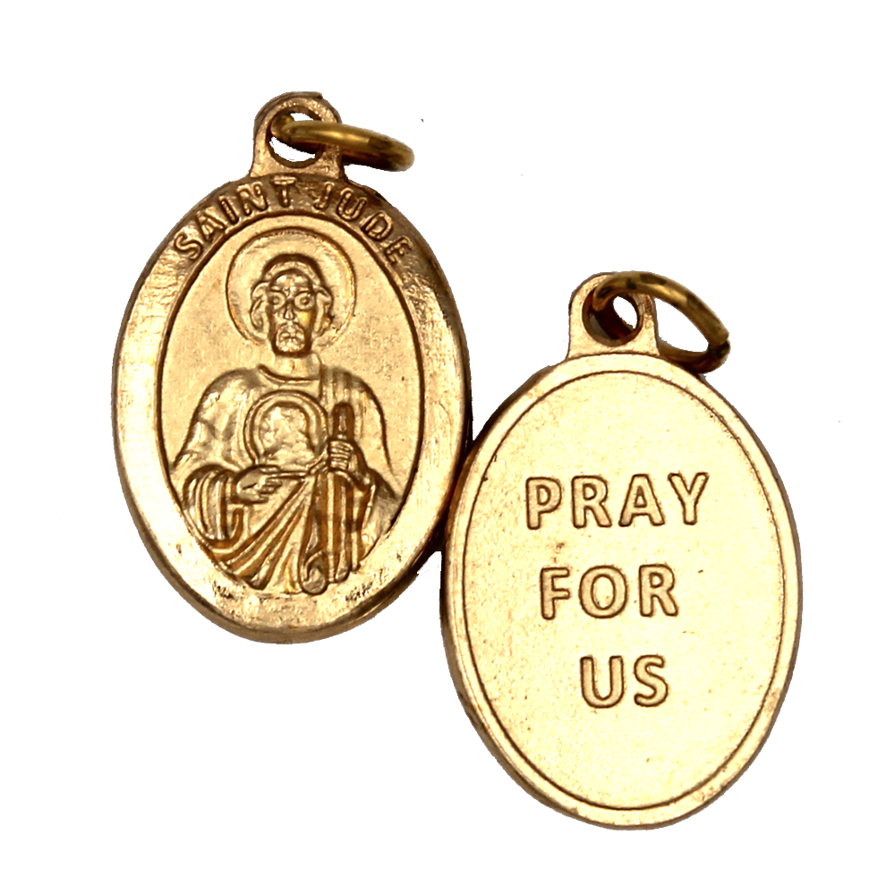 Saint Jude Premium Double Sided Medal - Gold Tone - 4 Options