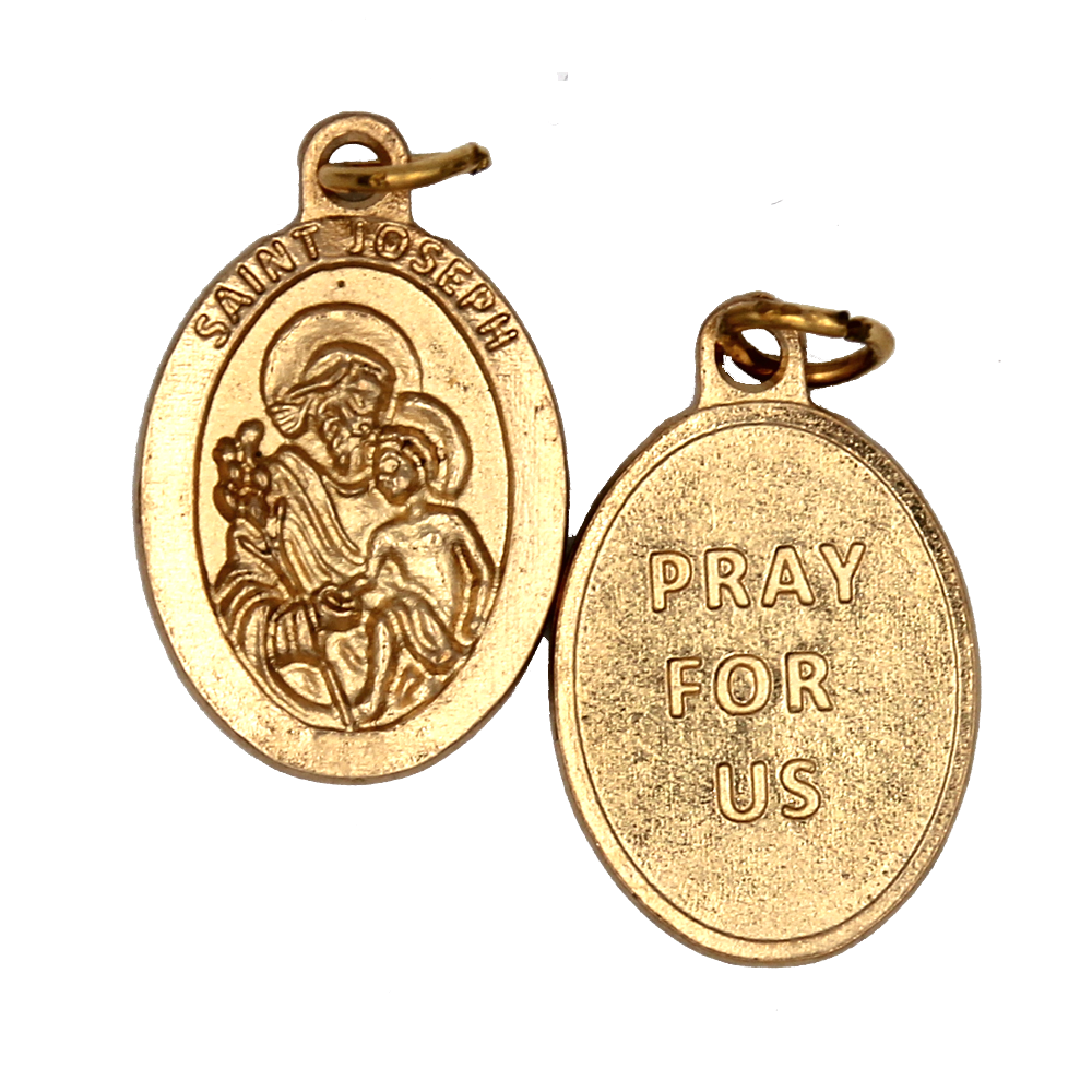Saint Joseph Premium Double Sided Medal - Gold Tone