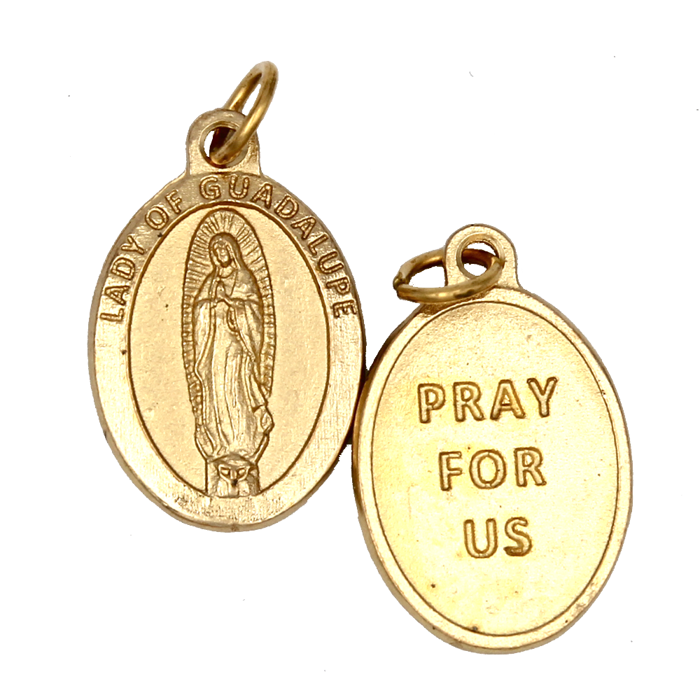 Lady of Guadalupe Premium Double Sided Medal - Gold Tone