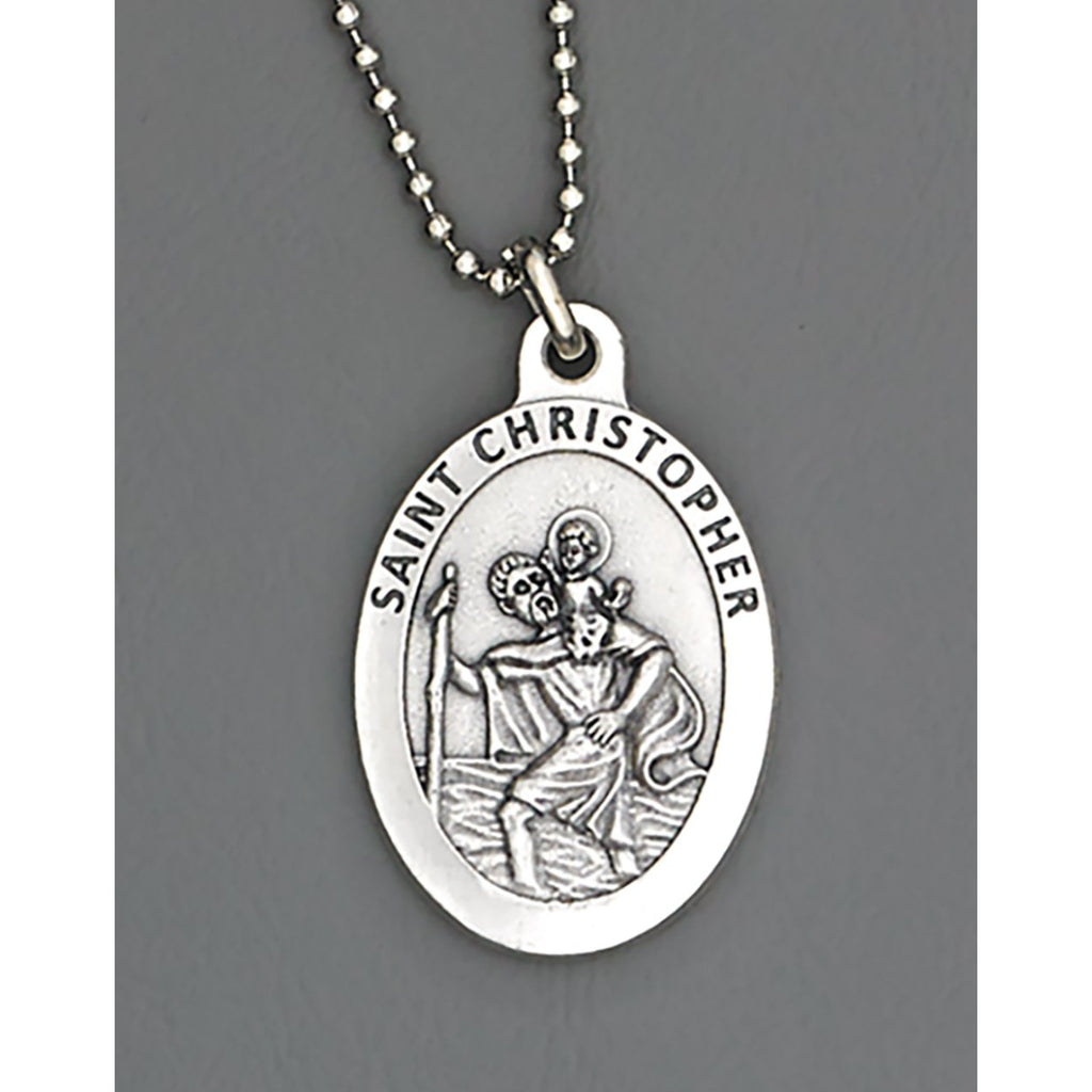 Auto Medals - 1-1/2 inch with 8 inch ball chain - Pack of 4 - St Christopher