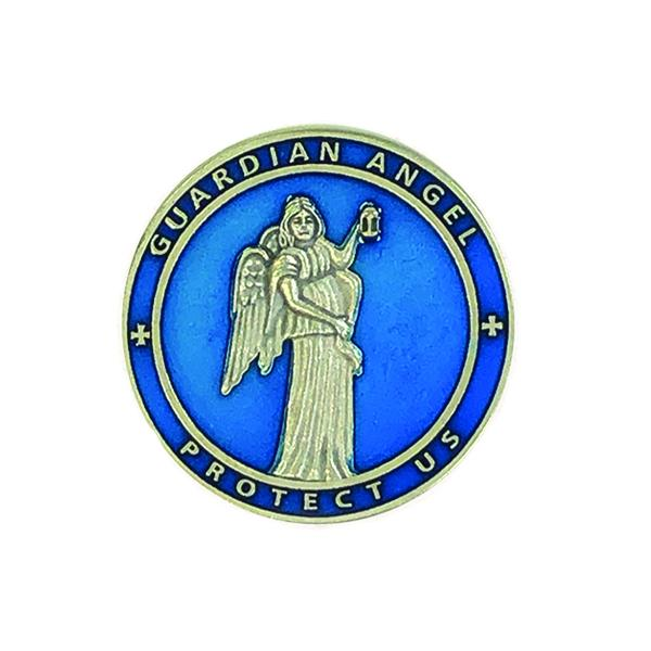 Guardian Angel Blue Enamel Visor Clip