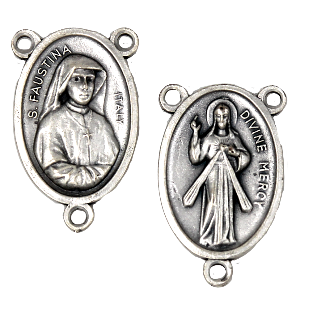 Divine Mercy Rosary Center - Pack of 25