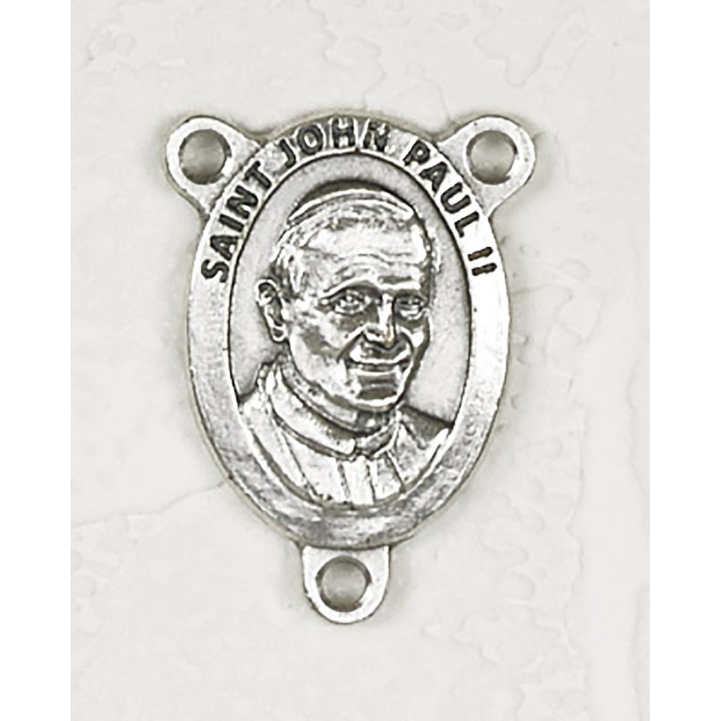 Saint Saint John Paul Rosary Center. Sold per pack of 25 Units. <p>Made in Italy</p> <p>Made in Italy</p>
