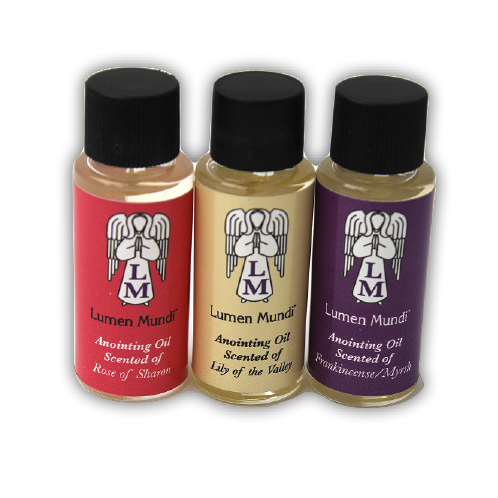 Anointing Oil, 3 Scents included are Frankincense Myrrh, Rose of Sharon, Lily of the Valley