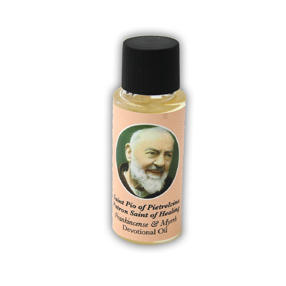 Saint Pio of Pietrelcina Devotional Oil, Frankincense Scent