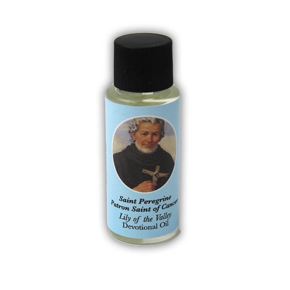 Saint Peregrine Devotional Oil, Lily of the Valley Scent