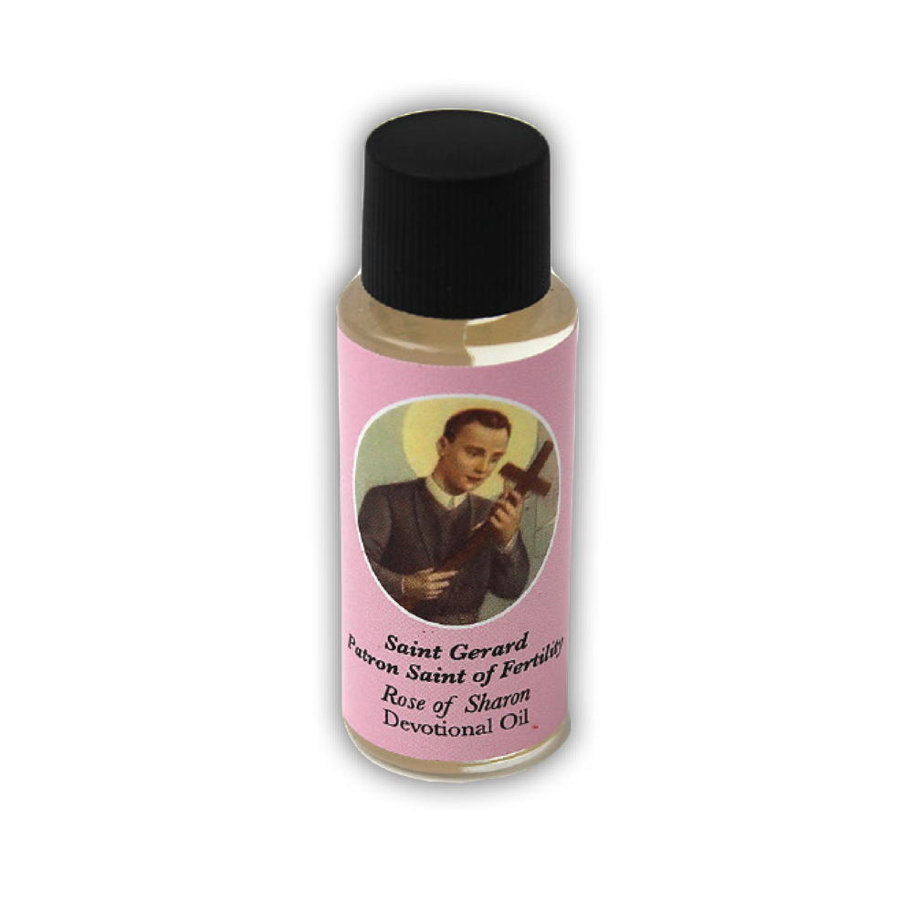 Saint Gerard Devotional Oil, Rose of Sharon Scent