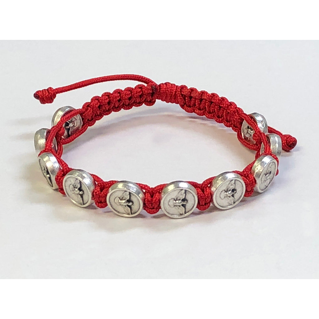 Red Confirmation Slip Knot  Bracelet