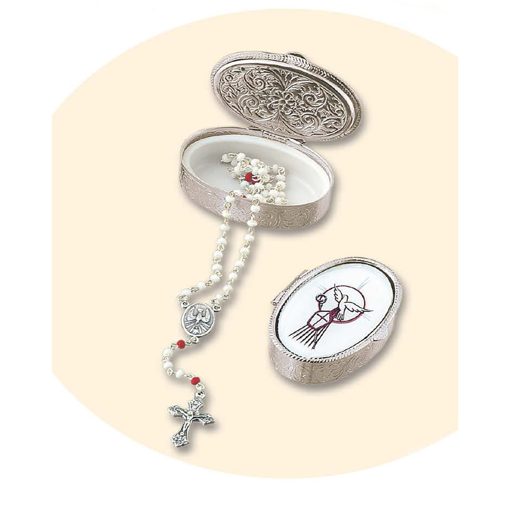 2 Inch Confirmation Rosary Box With Rosary