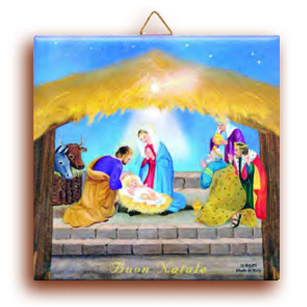 Nativity Terracotta Wall Tile - CHRISTMAS IN JULY