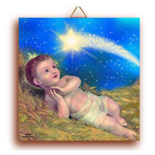 Terracotta Baby Jesus Wall Tile