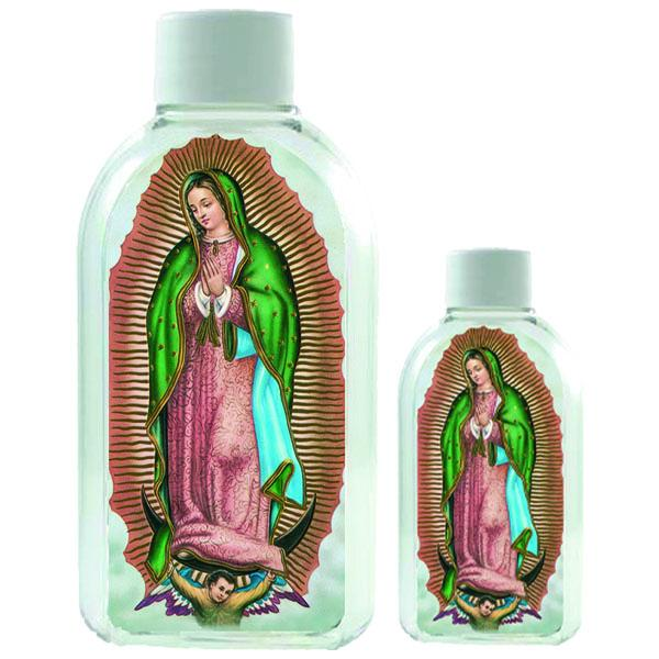Large Plastic Holy Water Bottle - Lady of Guadalupe