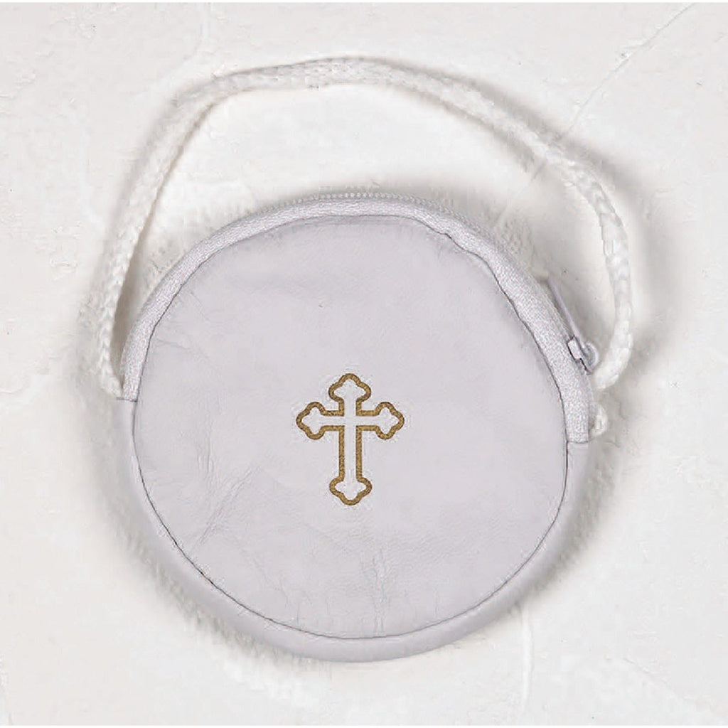 Leather Rosary Case/Burse with cord - Pack of 6 -  3 Colors