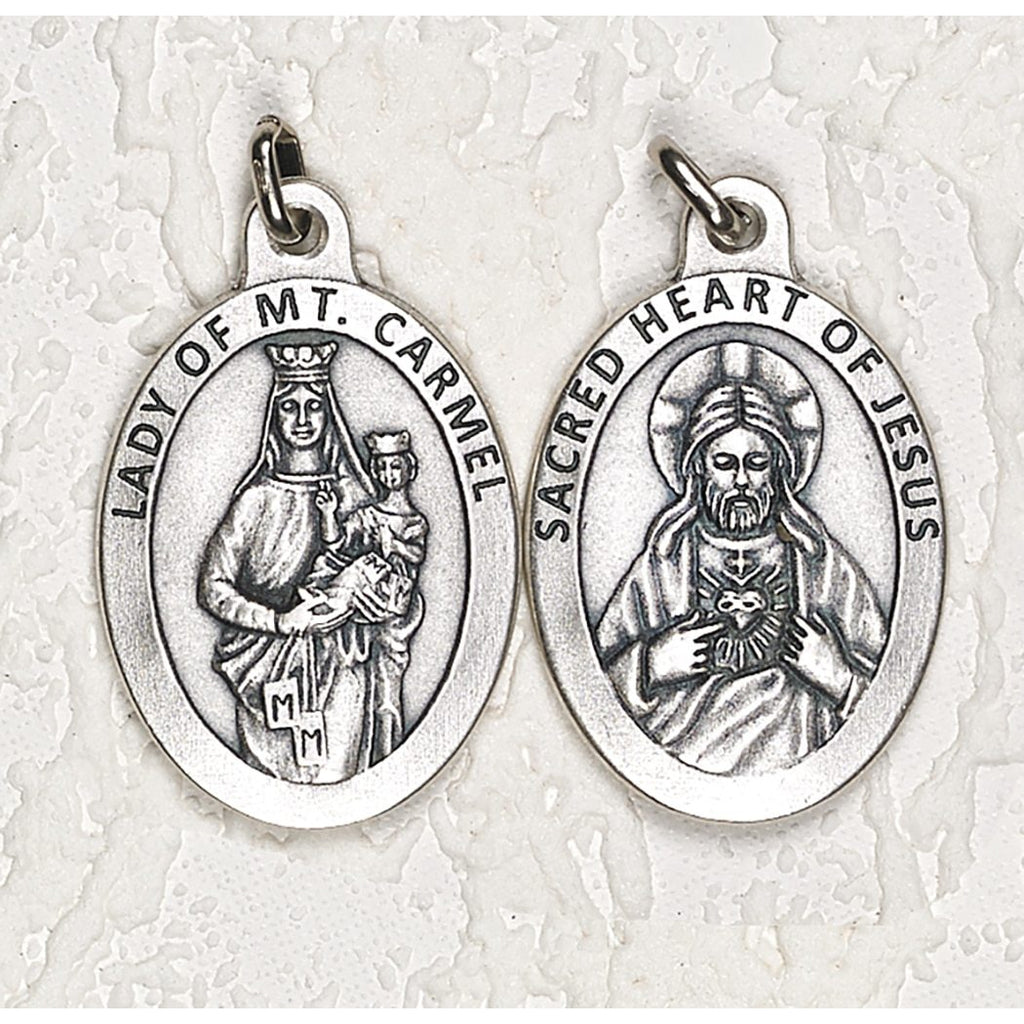 Scapular Double Sided Medal - 1-1/2 Inch - 4 Options