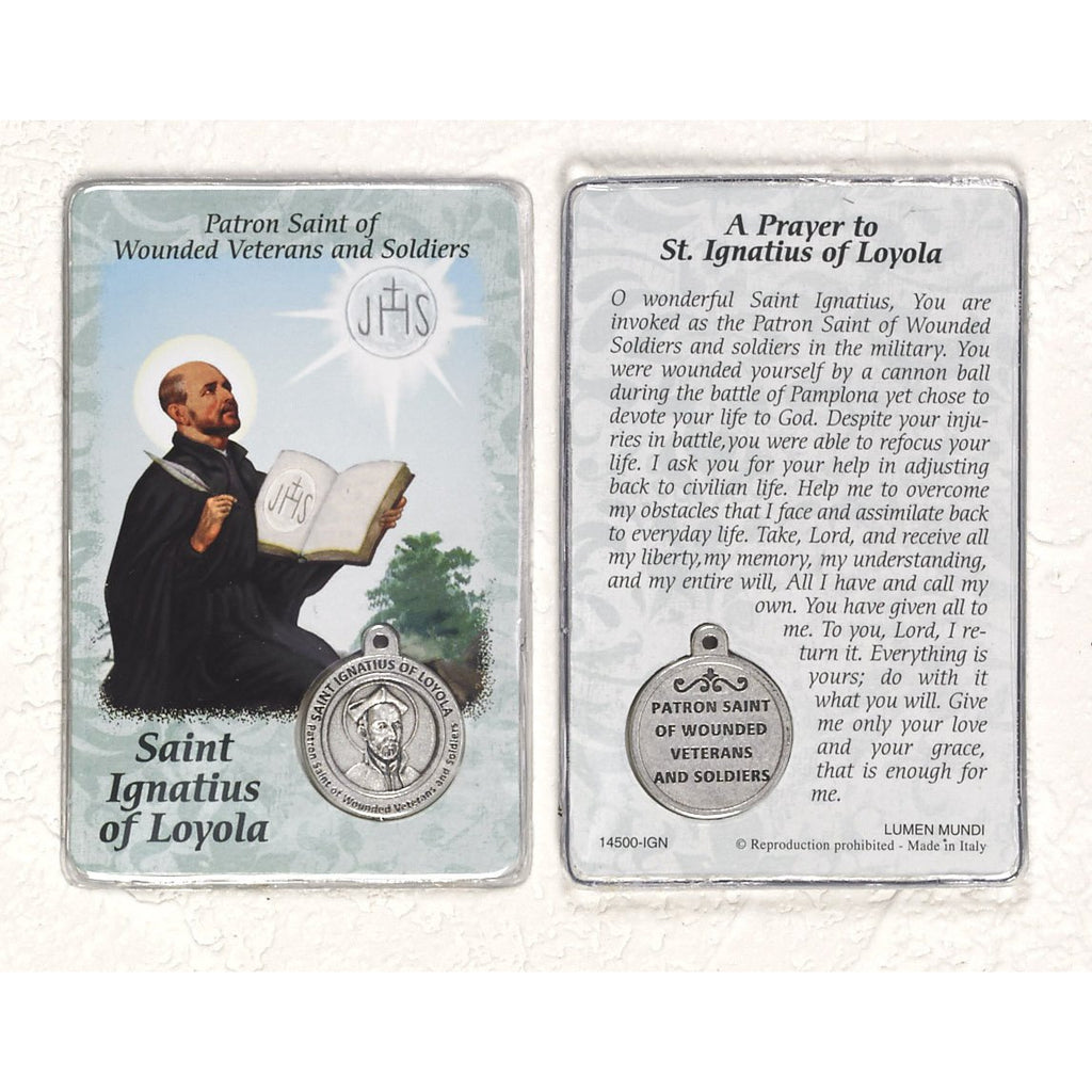 Healing Saint - St Ignatius Card with Medal