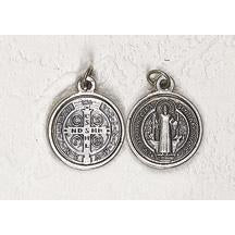 Saint Benedict Silver Tone Three Piece Medal - 12 Options