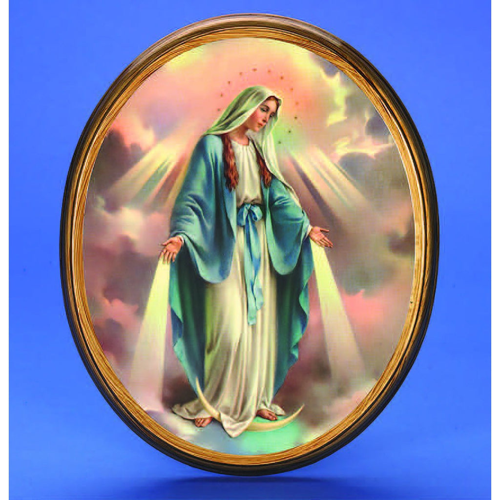 Oval Picture Lady of Grace - 2 Sizes