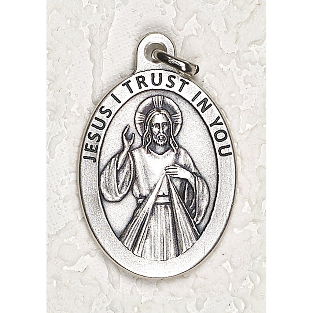 Divine Mercy Double Sided Medal - 1-1/2 Inch - 4 Options