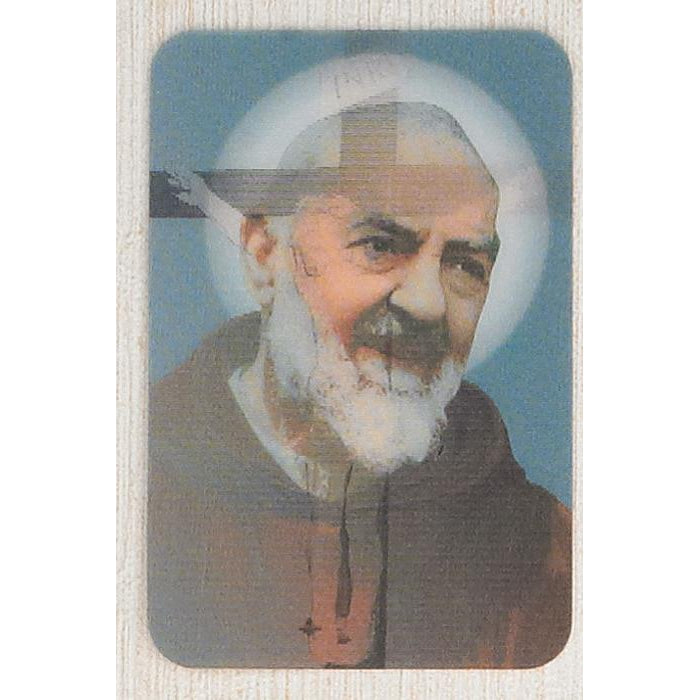 Padre Pio - Holographic 3D Cards - Pack of 25