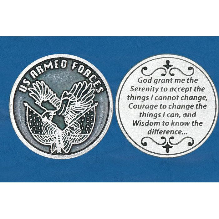 Italian Token - Serenity Prayer - Armed Forces