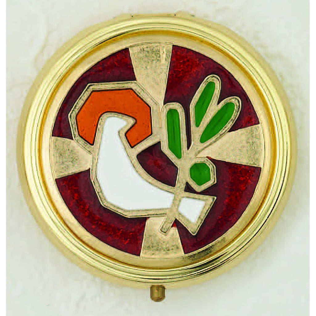 Holy Spirit Enameled Pyx - 3 Color Choices
