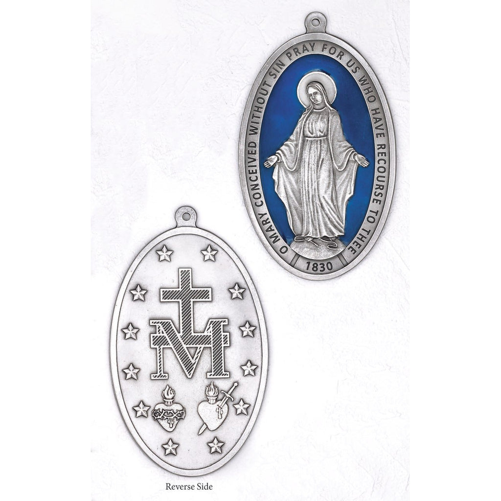 The Miraculous Medal - Large Wall Medal - Enameled