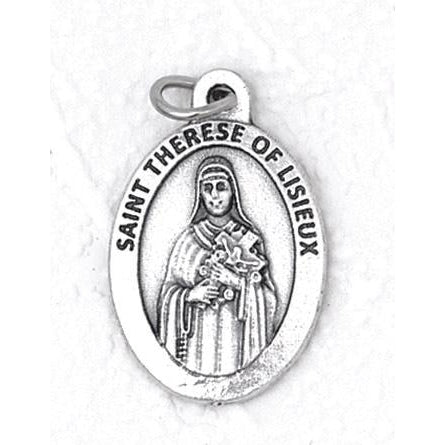 Saint Threse Premium 1 Inch Double Sided Medal - 4 Options