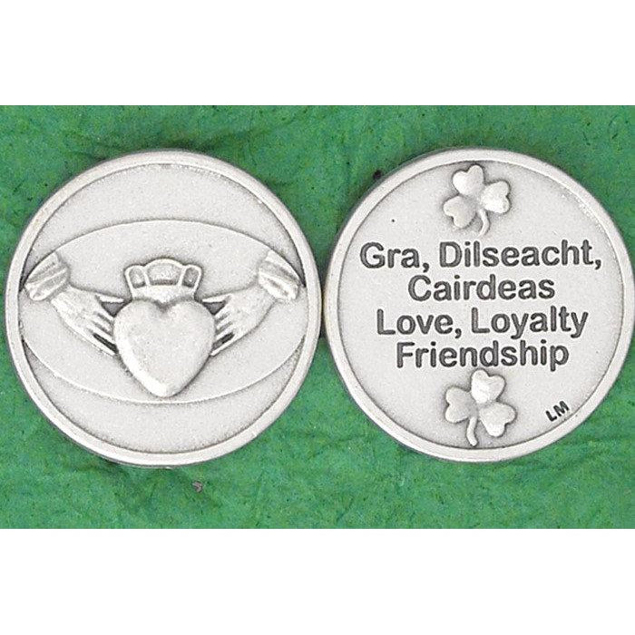 Irish token - Claddagh-Love, Loyalty, Friendship - Pack of 25