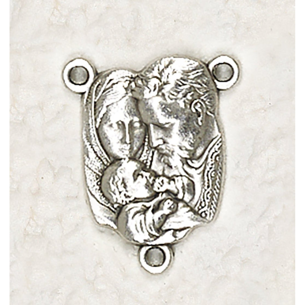 Holy Family Bust Rosary Center - Pack of 25