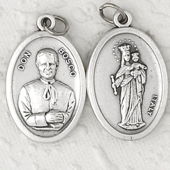 Don Bosco / Mary Help of Christians Double Sided Medal - 4 Options